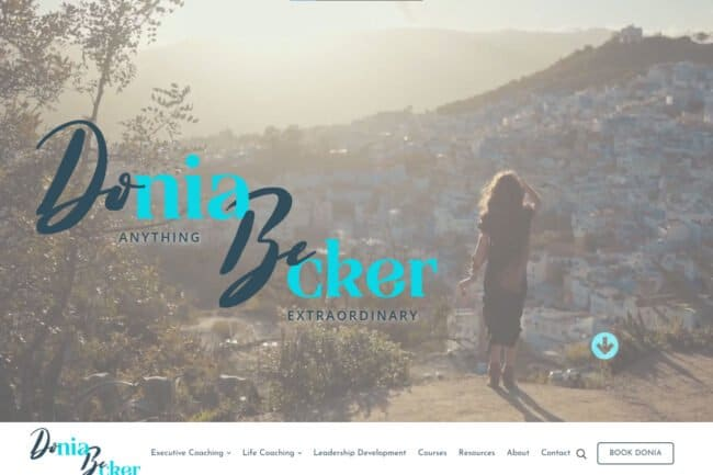 Doniabecker.com Home Page Screenshot