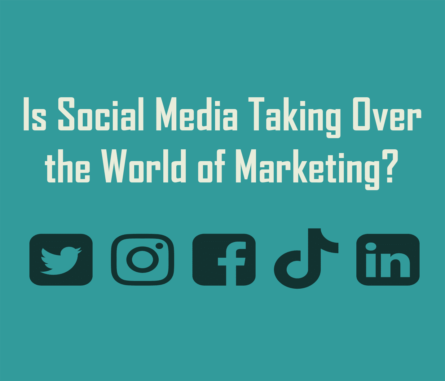 Is Social Media Taking Over the Word of Marketing?