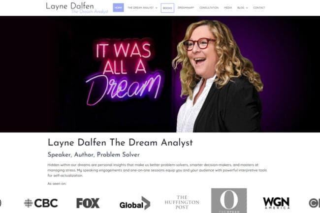 The Dream Analyst Website Screenshot